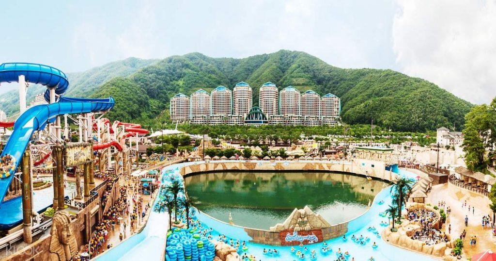 น้ำพุร้อนออนเซ็นในเกาหลี