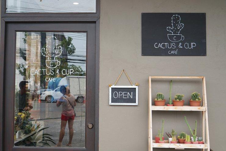 Cactus & Cup คาเฟ่กระบองเพชร
