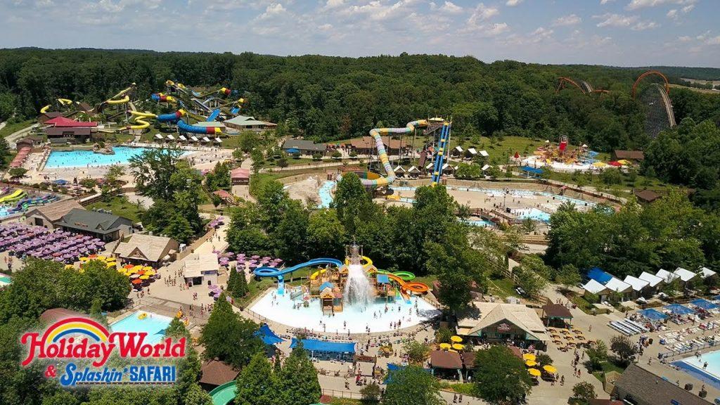 Holiday World & Splashin' Safari สวนสนุกที่มีเครื่องเล่นต่างๆมากมาย